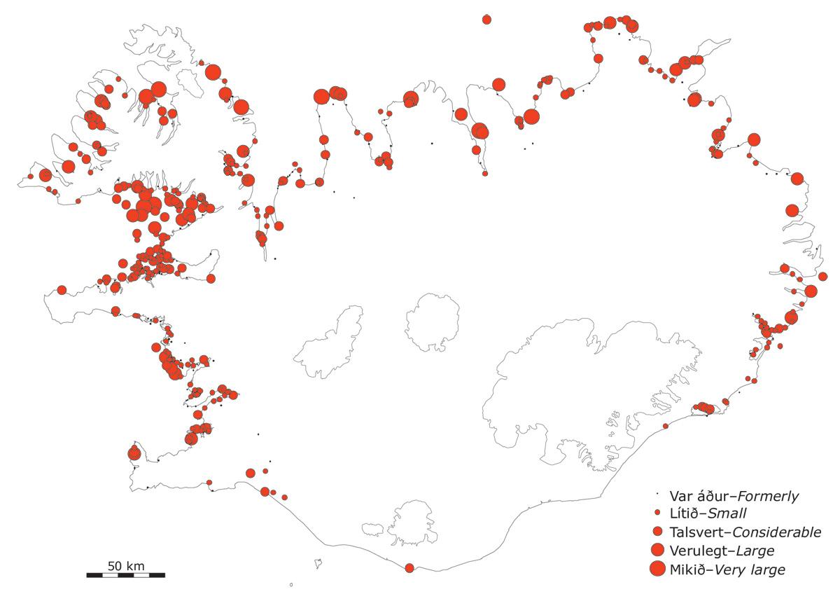 Æðarvörp á Íslandi kringum 2000